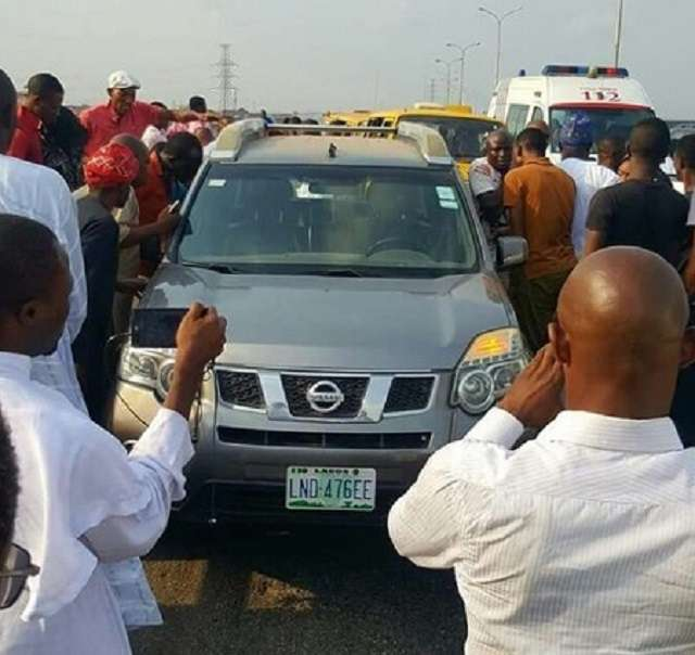 The ill-fated jeep belonging to the late Dr. Orji